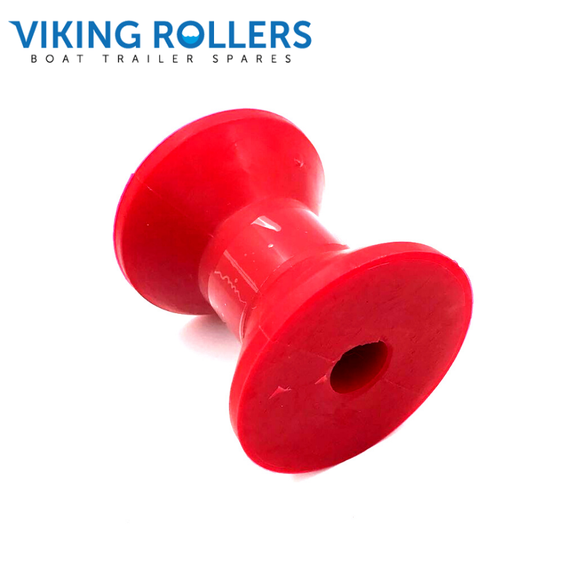BOW ROLLER 3 INCH WIDE RED POLY SOFT 17MM HOLE