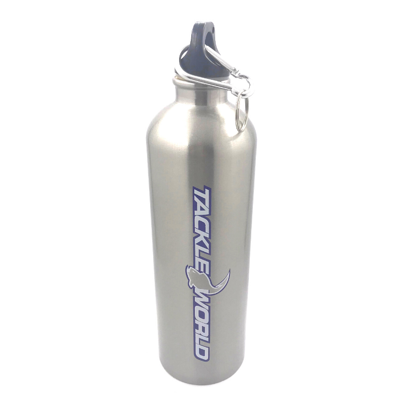 TACKLE WORLD DRINK BOTTLE SILVER