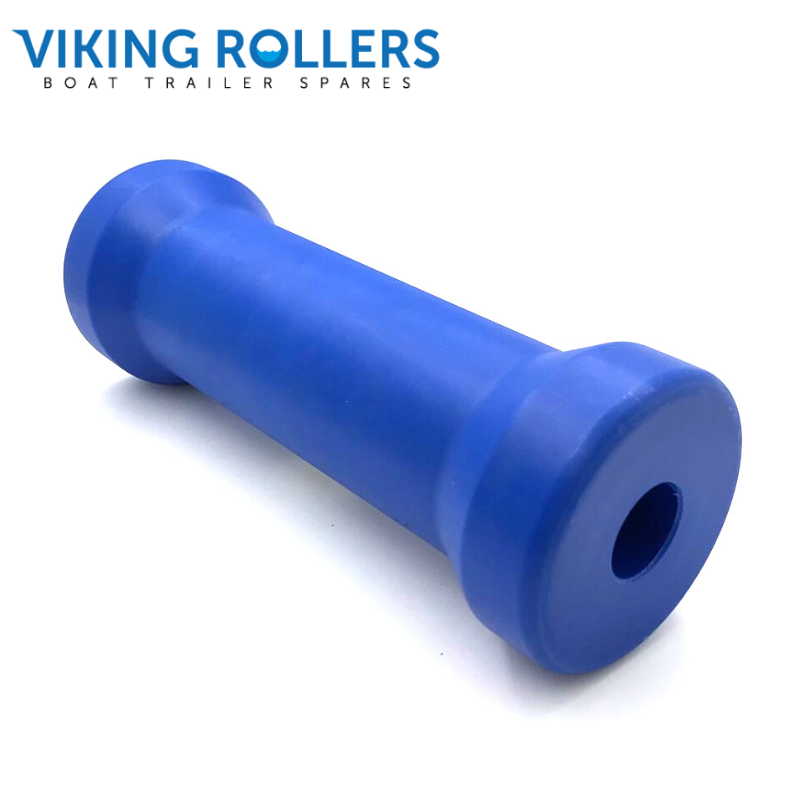SELF KEEL ROLLER 8 INCH WIDE BLUE NYLON 21MM HOLE
