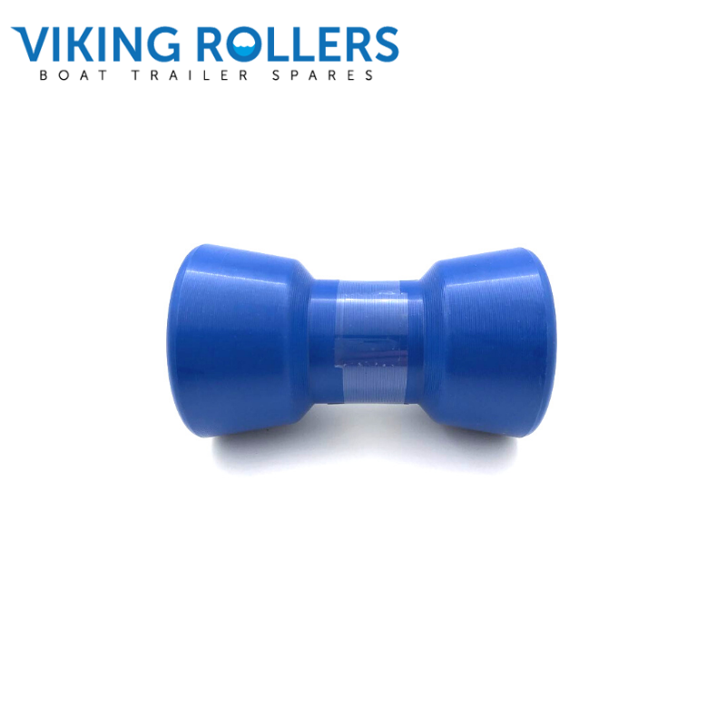 KEEL ROLLER 4 INCH WIDE BLUE NYLON 17MM HOLE