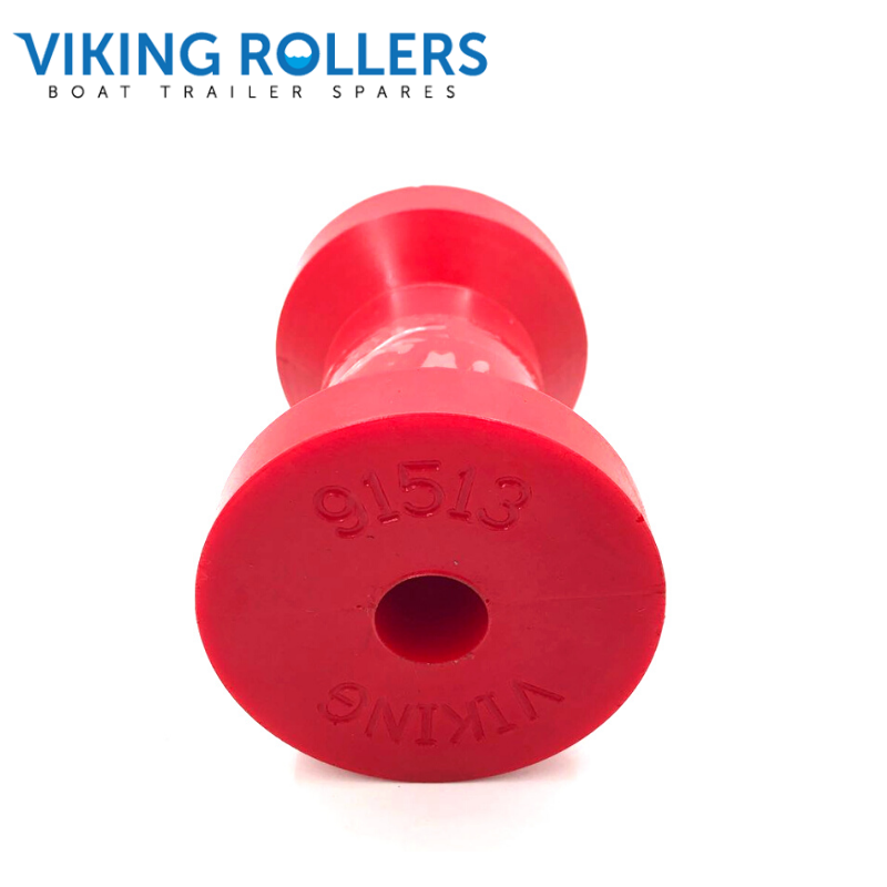 KEEL ROLLER 4.5 INCH RED POLY SOFT 17MM HOLE