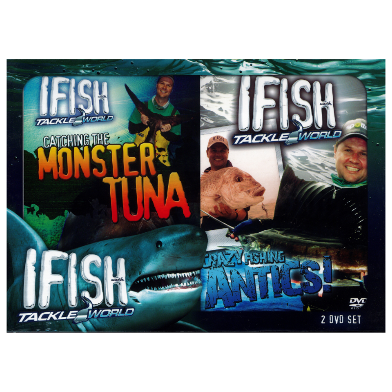 IFISH DVD SERIES TWIN DVD PACK MONTER TUNA AND CRAZY ANTICS