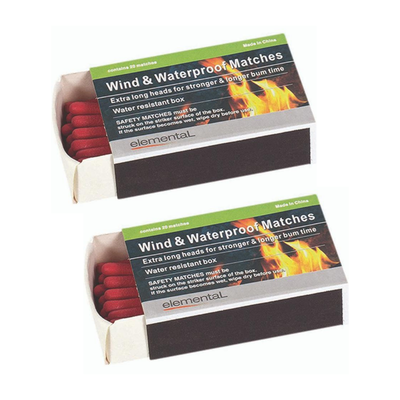 ELEMENTAL WIND AND WATERPROOF MATCHES 2 BOXES