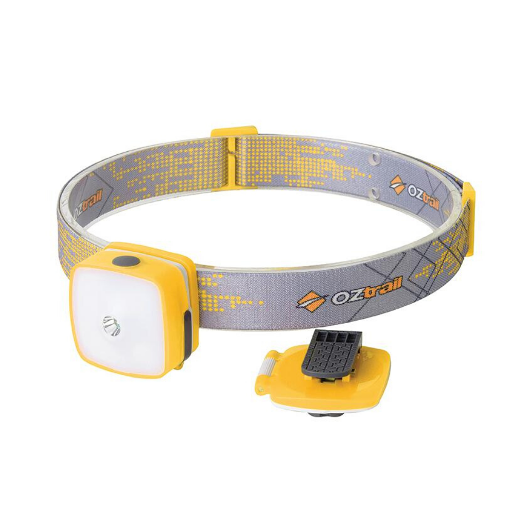 OZTRAIL 150L RECHARGEABLE HEADLAMP