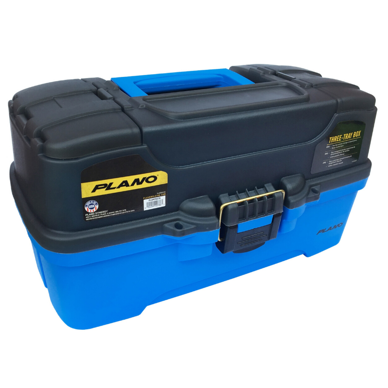 PLANO 6231 3 TRAY TACKLE BOX BLUE
