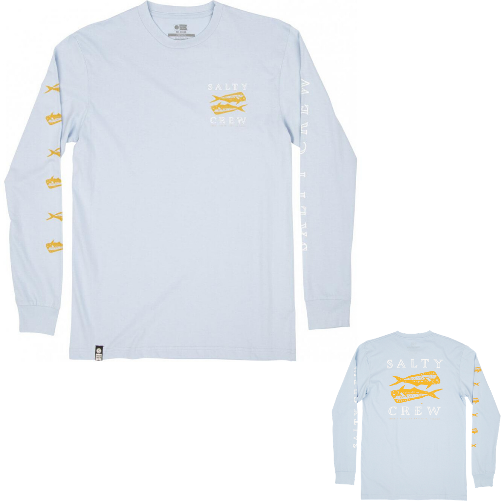 SALTY CREW DOUBLE UP LS TEE