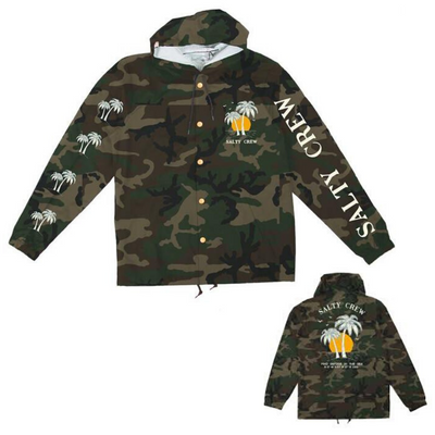 SALTY CREW PALMS CAMO SNAP JACKET