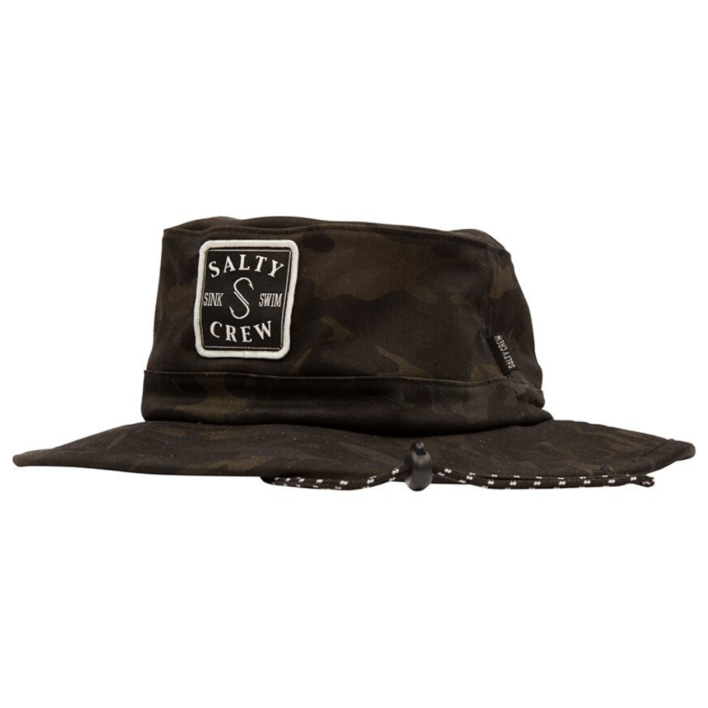 SALTY CREW S-HOOK BOONIE MULTICAM BLACK BUCKET HAT