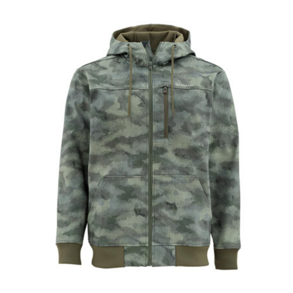 SIMMS ROGUE FLEECE HOODY HEX CAMO LODEN