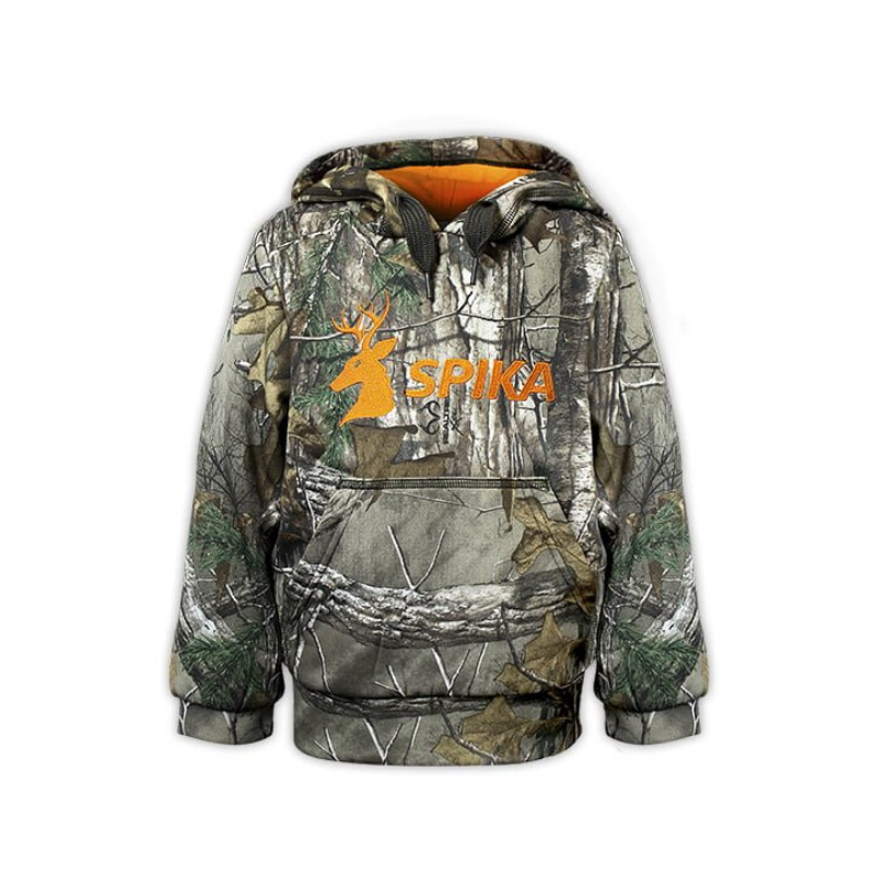 SPIKA GO HOODIE CAMO ORANGE KIDS