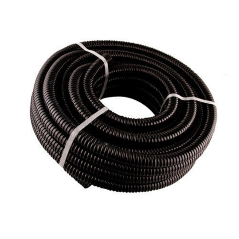 10M BLACK WASTE HOSE 27MM ID