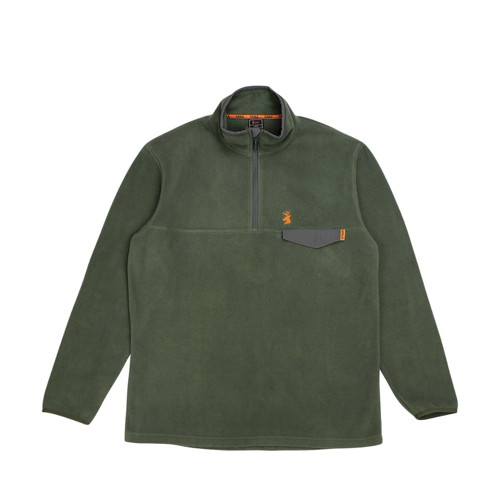 SPIKA BASECAMP FLEECE JUMPER OLIVE