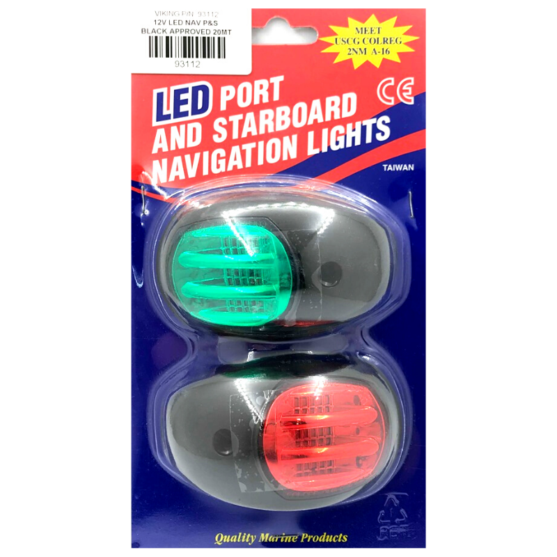 LED SIDE MOUNT NAVIGATION LIGHTS RED and GREEN