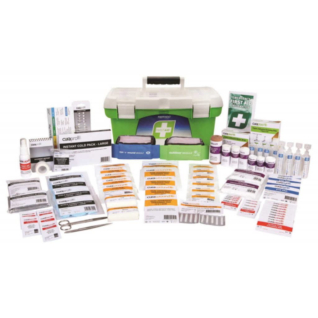 FASTAID FIRST AID KIT R2 CONSTRUCTA MAX KIT 1 TRAY PLASTIC PORTABLE