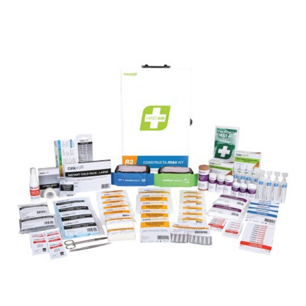 FASTAID FIRST AID KIT R2 CONSTRUCTA MAX KIT METAL WALL MOUNT