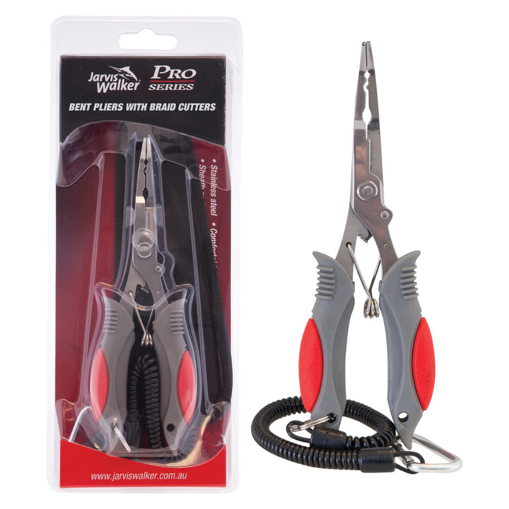 JARVIS WALKER BENT PLIERS WITH BRAID CUTTERS