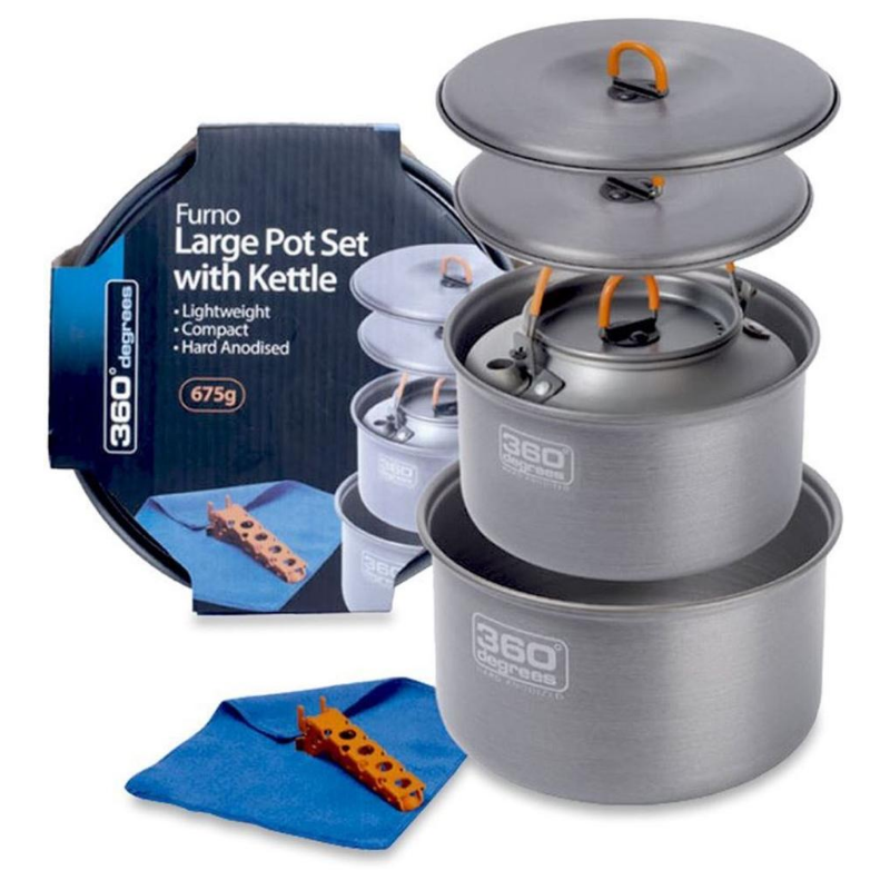 360 FURNO LARGE POT SET WITH KETTLE
