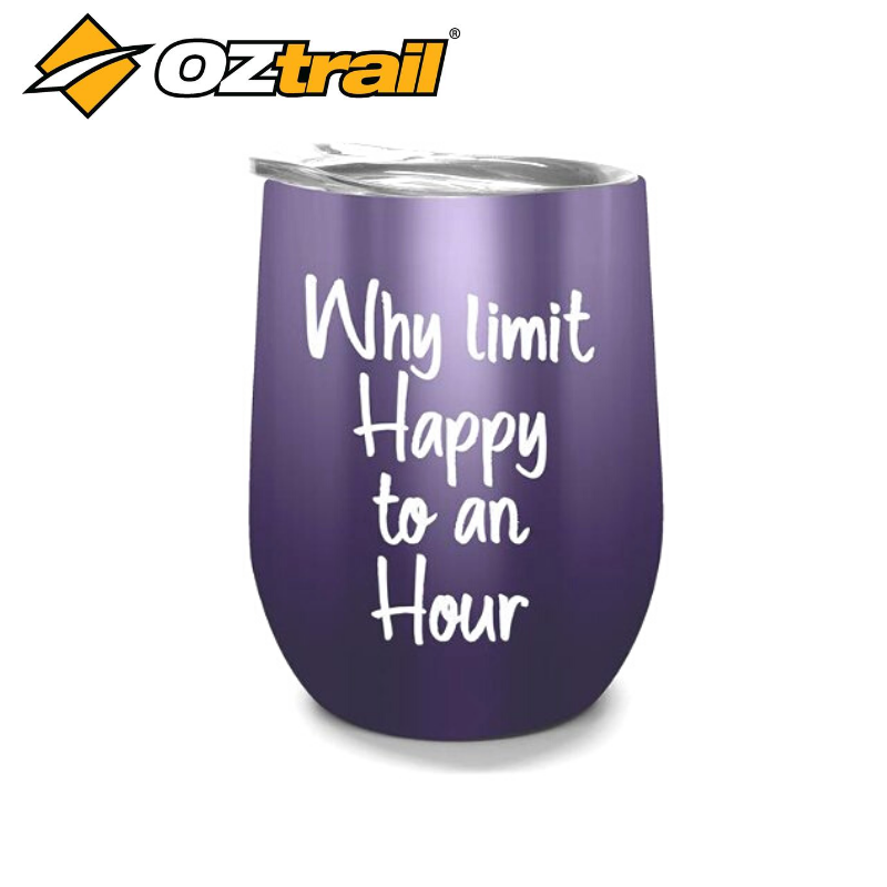 DOUBLE WALL STAINLESS TUMBLER HAPPY HOUR