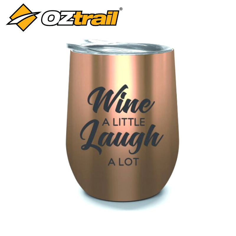 DOUBLE WALL STAINLESS TUMBLER WINE LAUGH