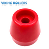 TAPERED CAP ROLLER 2.5 INCH WIDE RED POLY SOFT 17MM HOLE