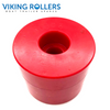 ROUND CAP ROLLER 2.5 INCH WIDE RED POLY SOFT 17MM HOLE