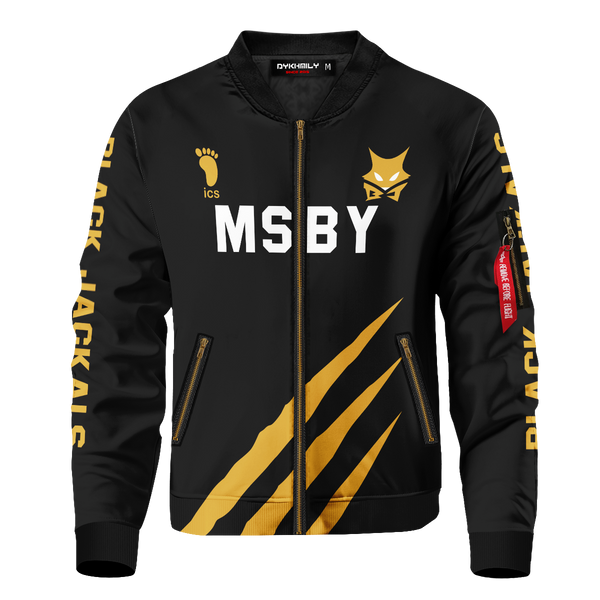 Personalized MSBY Black Jackals Bomber Jacket