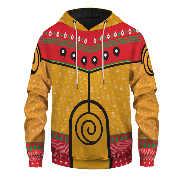 Nine Tails Christmas Chakra Unisex Pullover Hoodie