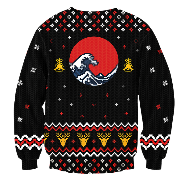 Learn Japanese Christmas Unisex Wool Sweater