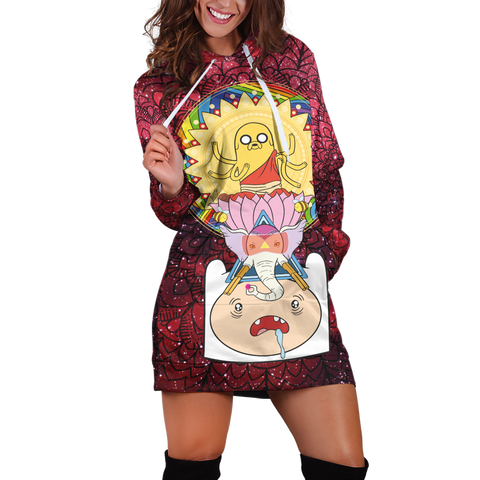 Adventure Time Hoodie Dress - Fandomaniax-Store
