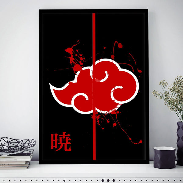 Akatsuki Bordered Frame Wall-Art - Fandomaniax-Store