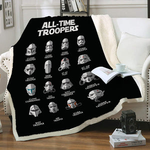 All Time Troopers Throw Blanket - Fandomaniax-Store