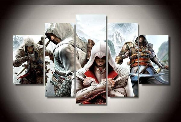 Assassin's Creed Black Flag 5 Piece Canvas - Fandomaniax-Store