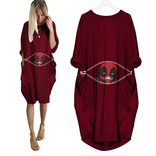 Baby Deadpool Peeking Dress - Fandomaniax-Store