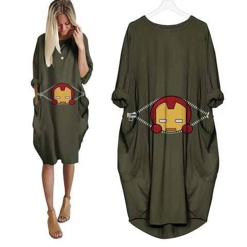 Baby Iron Man Peeking Dress - Fandomaniax-Store