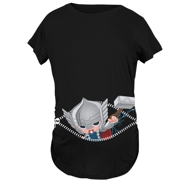 Baby Thor Peeking Maternity T-Shirt - Fandomaniax-Store