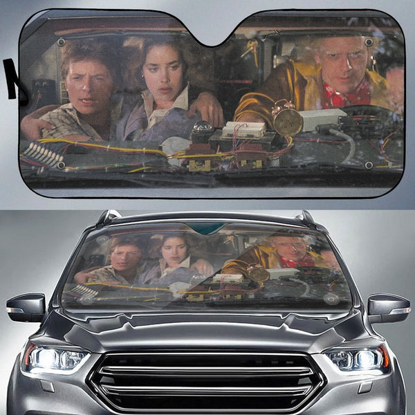 Back to the Future Auto Sun Shade - Fandomaniax-Store