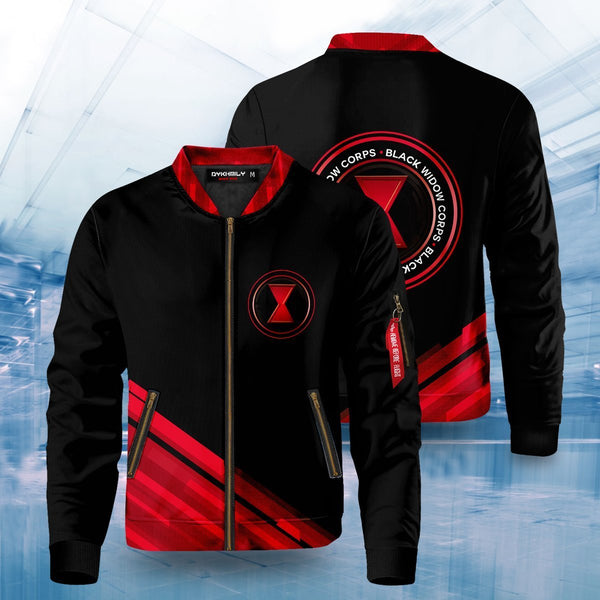 Black Widow Corps Bomber Jacket - Fandomaniax-Store