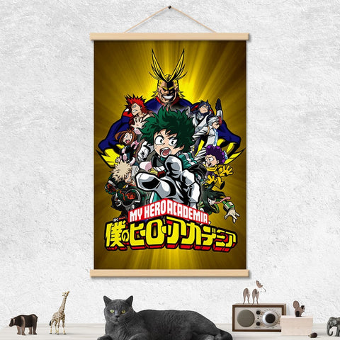 Boku no Hero Hanging Wall-Art - Fandomaniax-Store