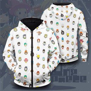 Chibi Pirates Unisex Zipped Hoodie - Fandomaniax-Store