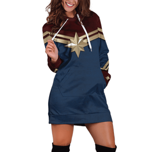 Danvers Hoodie Dress - Fandomaniax-Store