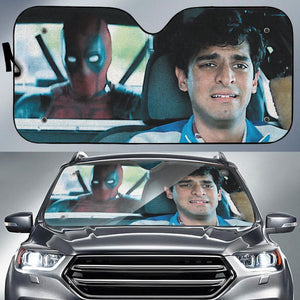 Deadpool Taxi Auto Sun Shade - Fandomaniax-Store