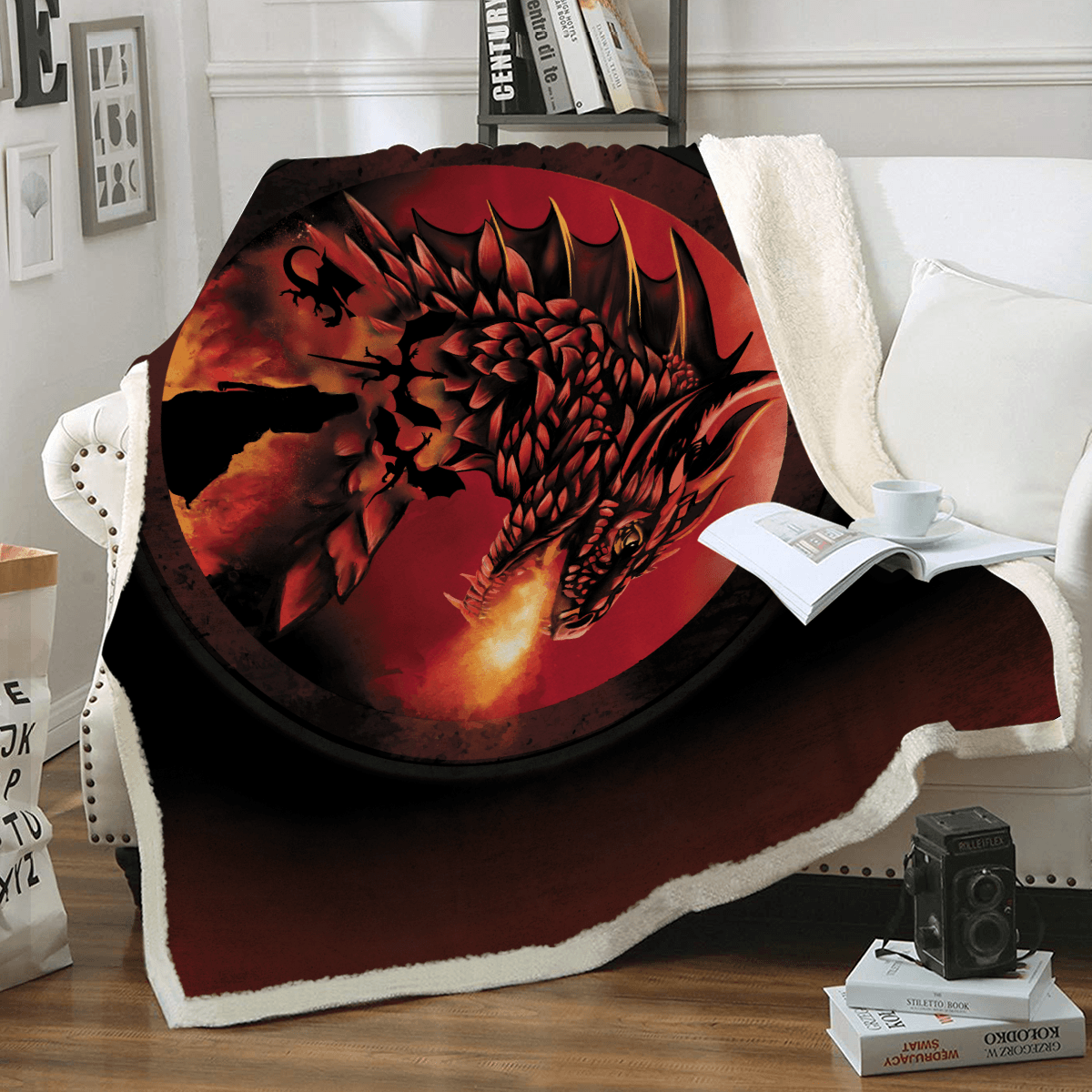 Dracarys Throw Blanket - Fandomaniax-Store