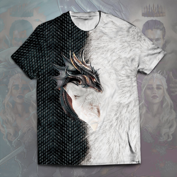 Dragon and Wolf Unisex T-Shirt - Fandomaniax-Store