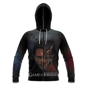 Dragon & Crow Unisex Zipped Hoodie - Fandomaniax-Store