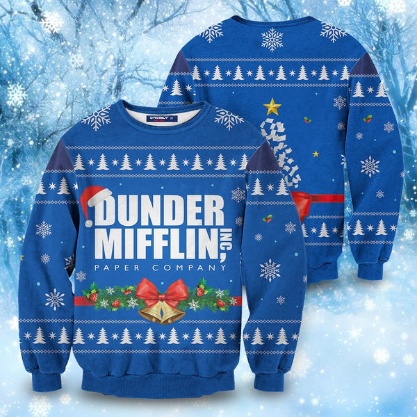 Dunder Mifflin Holiday Unisex Wool Sweater - Fandomaniax-Store