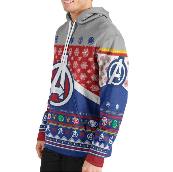 Earth's Mightiest Christmas Unisex Pullover Hoodie - Fandomaniax-Store