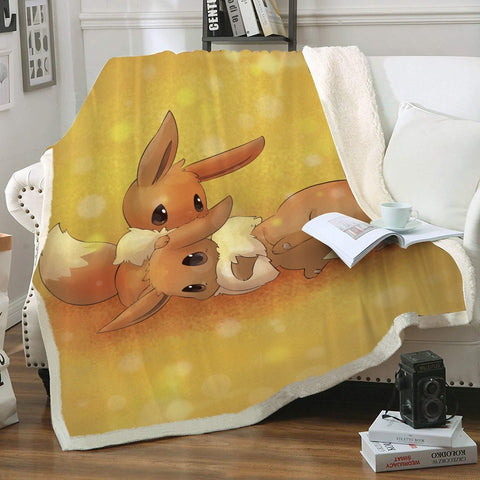 Eevee Throw Blanket - Fandomaniax-Store