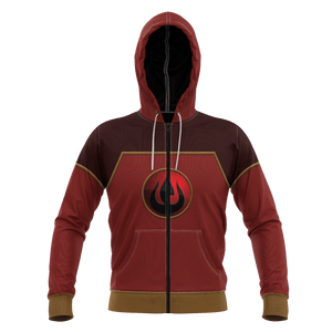 Fire Nation Unisex Zipped Hoodie - Fandomaniax-Store