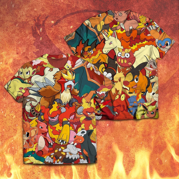 Fire Unisex T-Shirt - Fandomaniax-Store