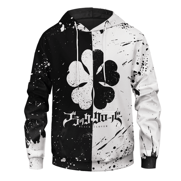 Five-Leaf Clover Unisex Pullover Hoodie - Fandomaniax-Store